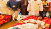 বেনাপোলে ২১শে ফেব্রায়ারী নোম্যান্সল্যান্ডে দুই বাংলার ভাষা প্রেমীদের স্বেচ্ছায় রক্তদান