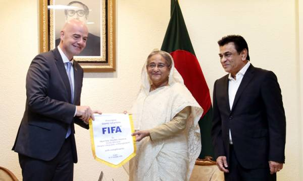 'বাংলাদেশের ফুটবলের উন্নয়নে ফিফা'র সহযোগিতা অব্যাহত থাকবে'